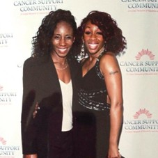Me and my big sister, Lauretta. The gift that my Mother left me.