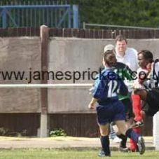 My last cup final. A volley on the turn, hitting the cross bar. Disappointed to lose the game. 2009.